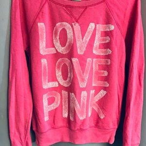 Pink/ Victoria secret sweat shirt